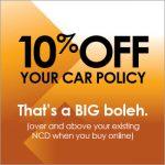 10% car insurance rebate